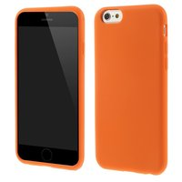 Coque orange iPhone 6 Plus 6s Plus en silicone souple Jour de la Coupe du Monde EC