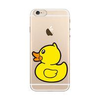 Housse en TPU Canard en caoutchouc iPhone 6 Plus et 6s Plus Couverture transparente Canard jaune