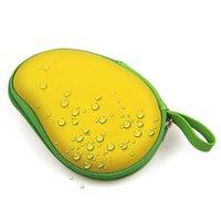 Boîte de rangement pour les oreilles Forme mangue Bouchons d'oreille pour boîte de protection Jaune vert