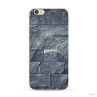 Coque en pierre naturelle gris-bleu iPhone 6 6s Housse en silicone Coque en pierre