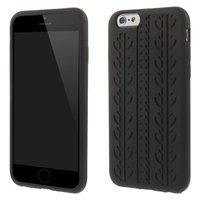 Étui en silicone noir pour voiture Car Tracks pour iPhone 6 Plus et iPhone 6s Plus