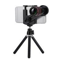 Téléobjectif universel Objectif zoom optique 12x pour iPhone - Trépied - Trépied - Noir