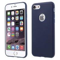 Coque en silicone unie bleue pour iPhone 7 8 Coque bleue Etui bleu