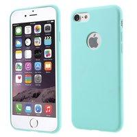 Étui en silicone bleu clair Coque Solid Blue pour iPhone 7 8