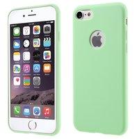 Étui en silicone de couleur verte unie iPhone 7 8 Housse verte Étui vert