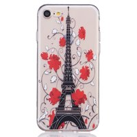 Coque Paris transparente iPhone 7 8 SE 2020 Housse silicone Paris Tour Eiffel