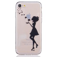Coque Lady Blowing Fleurs iPhone 7 8 Coque en silicone transparent