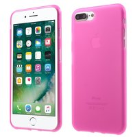Coque uni rose iPhone 7 Plus 8 Plus Couverture rose Coque en silicone