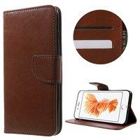 Etui portefeuille brun Etui portefeuille iPhone 7 Plus 8 Plus en cuir