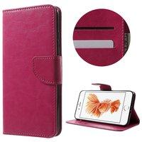 Etui portefeuille rose Etui portefeuille iPhone 7 Plus 8 Plus Etui en cuir