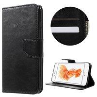 Etui portefeuille noir Etui portefeuille iPhone 7 Plus 8 Plus en cuir