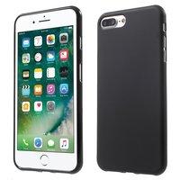 Etui en silicone noir iPhone 7 Plus 8 Plus Coque noire de couleur unie
