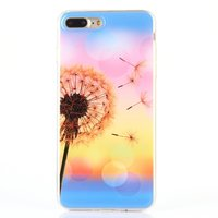 Coque en TPU silicone Bladderbloem pour iPhone 7 Plus 8 Plus fleur de couverture colorée