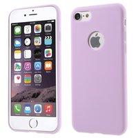 Etui en silicone Violet iPhone 7 8 Coque uni violet Etui violet