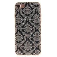 Etui henné noir Fleur damassée Etui en TPU Silicone iPhone 7 8, blanc