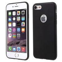 Coque en silicone noire unie iPhone 7 8 Mat Coque noire