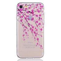 Coque en TPU transparente pour iPhone 7 8 fleurs roses