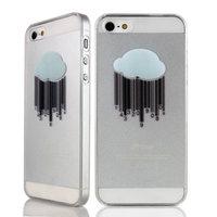 Étui rigide robuste avec nuage Étui de pluie transparent pour iPhone 4 et 4s