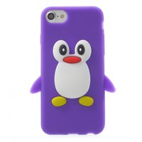 Coque pingouin solide iPhone 7 8 Coque en silicone violette impression 3D