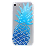 Etui ananas bleu TPU iPhone 7 8 Etui transparent Bleu