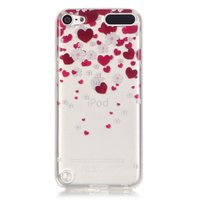 Etui de protection en TPU iPod touch 5 et 6 coeurs transparent