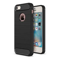 Coque en TPU carbone noire iPhone 5 5s SE Armor