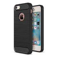 Coque TPU en carbone noir iPhone 5 5s SE Armor