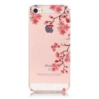 Coque TPU Blossom iPhone 5 5s SE - Transparent - Fleurs en aérosol - Fleurs
