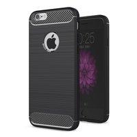 Coque Carbon Armor pour iPhone 6 6s TPU - Noire