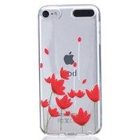 Housse fleur rouge Housse transparente TPU iPod Touch 5 6 7