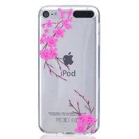Coque en TPU Fleurs roses iPod Touch 5 6 7 Coque transparente