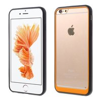 Coque Hybride Antichoc pour iPhone 6 6s Noir Orange Transparent
