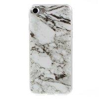 Coque en TPU en marbre iPhone 7 8 Coque blanche Coque en marbre