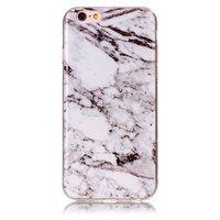 Housse de protection en marbre pour iPhone 6 6s silicone - Marbre - Blanc