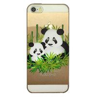 Coque pour iPhone 5, 5s et SE avec impression panda transparente