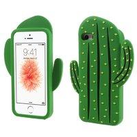 Etui 3D cactus en silicone vert pour iPhone 5 5s et SE