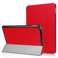 Étui de protection rouge à trois volets pour case iPad 2017 2018