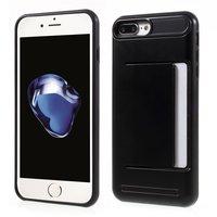 Étui à clip pass noir pour iPhone 7 Plus 8 Plus