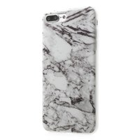 Coque en marbre blanc TPU iPhone 7 Plus 8 Plus