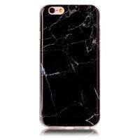 Coque en marbre TPU silicone noir pour iPhone 6 et 6s