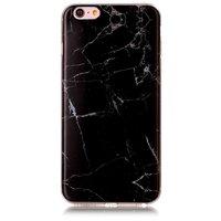 Coque en marbre noir Coque en TPU pour iPhone 6 Plus et 6s Plus