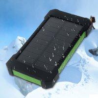 Batterie d'extérieur solaire rechargeable portative solaire verte Powerbank