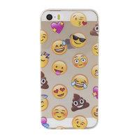Coque smiley transparente pour étui Emoji pour iPhone 5, 5s et SE en TPU