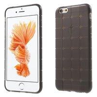 Coque en TPU à carreaux gris pour iPhone 6 6s avec protection supplémentaire