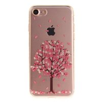 Arbre de fleur rose transparent Coque en TPU pour iPhone 7 avec iPhone 7