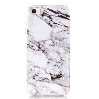 Coque en marbre blanc iPhone 5 5s SE Silicone TPU Housse en marbre