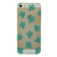Coque transparente iPhone 5, 5s et SE TPU cactus transparent