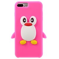 Coque 3D pingouin rose iPhone 7 Plus 8 Plus