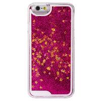 Coque rigide transparente à paillettes violettes pour iPhone 6 et 6s