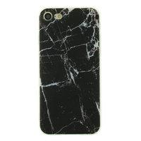Coque en TPU Marbre pour iPhone 7 8 SE 2020 - Marbre - Noir
